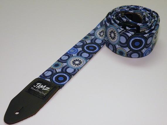 Handmade Guitar Strap - TRUE BLUE