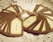 Personalized name tags for gifts or favor boxes for wedding/reception. 100 tags.