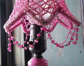 VINTAGE ROMANTIC PINK Boudoir Lamp ceramic