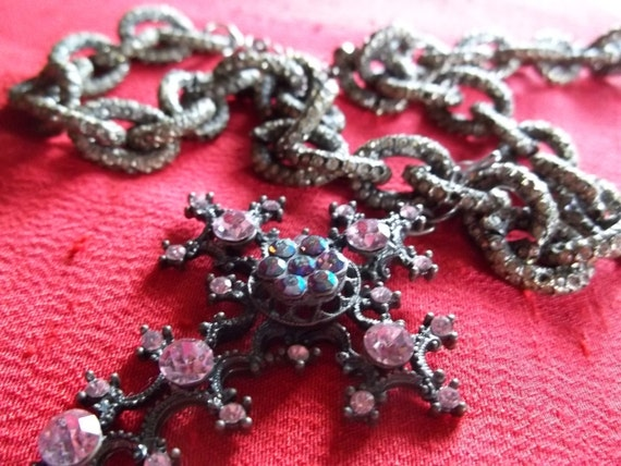 Vintage Chain & Gothic Cross FREE SHIPPING
