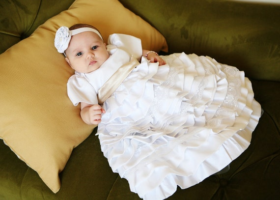 Items similar to Baptism dress Christening dress Blessing
