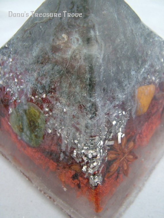 Organite Pyramid Four Directions with Hematite and Star Anise