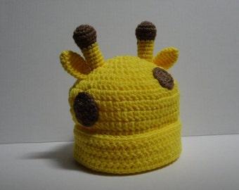 Giraffe Beanie.....Toddler Size Giraffe Hat
