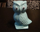 ON SALE Bright Blue Teal Owl