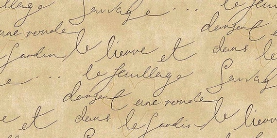 French Script Fabric With Writing – HD Wallpapers