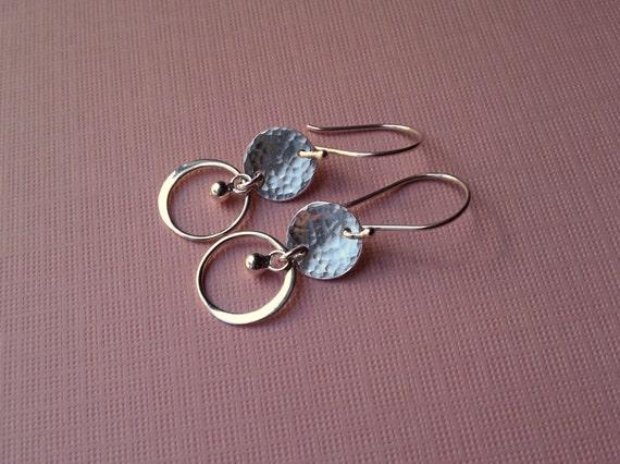 Celestial Circles Sterling Earrings