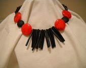Red and Black Island Necklace