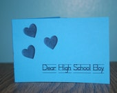 Dear High School Boy Zine
