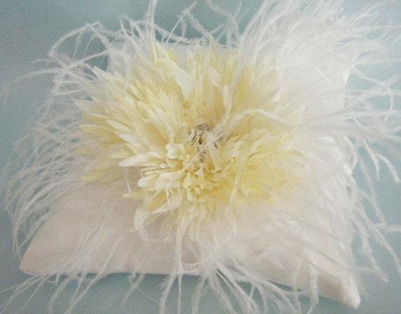Ivory Ring Bearer Pillow/ Wedding Pillow