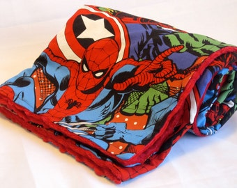 Marvel Retro Comics Multi Characters Blanket