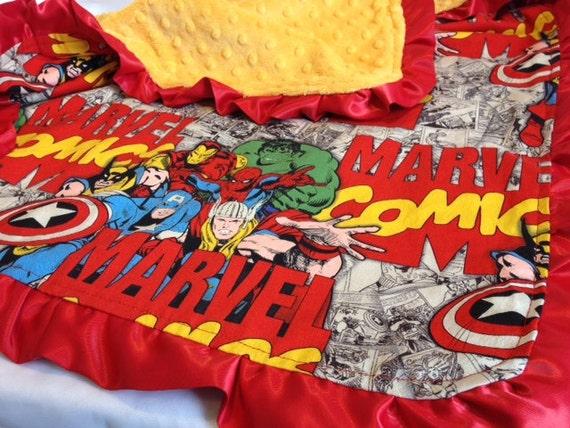 Marvel Comics Ruffle Blanket