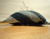 Denim Wrist Pin Cushion upcycled from blue jeans