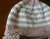 la-la's cotton candy striped ear-warmer hat