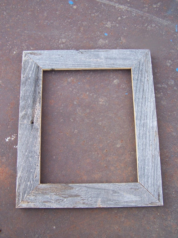 8x10 flat barnwood picture frame rustic weathered. Black Bedroom Furniture Sets. Home Design Ideas