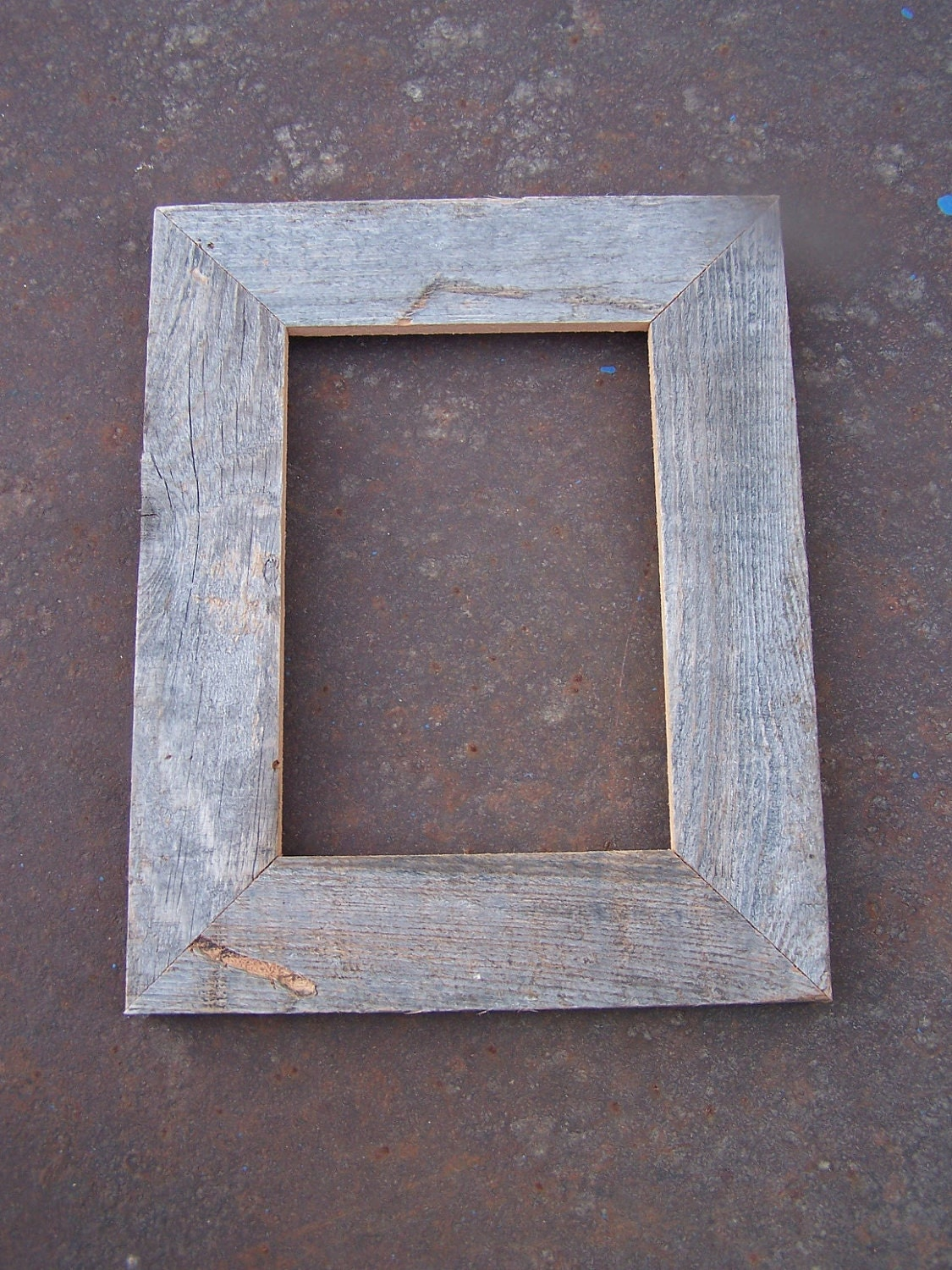 5x7 Flat Barnwood Picture Frame Rustic Weathered