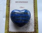 Lapis Lazuli Awareness Stone Heart