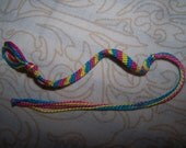 Pansexual pride friendship bracelet