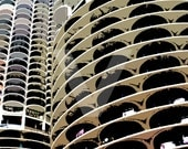 Marina Towers: Chicago Architectural Photography - Pop Art - Print of Original Artwork