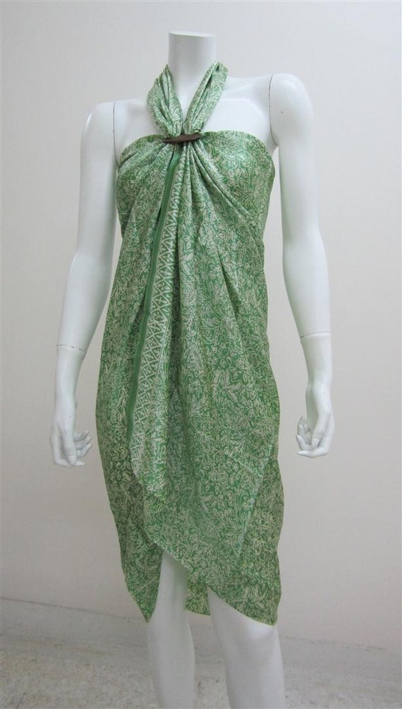 Silk Batik Sarong - Fresh Green Ferns