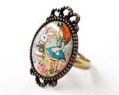 Alice's Adventures in Wonderland Adjustable Ring