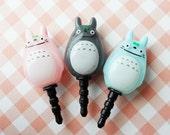 Totoro(double faced) earphone plug - Skyblue