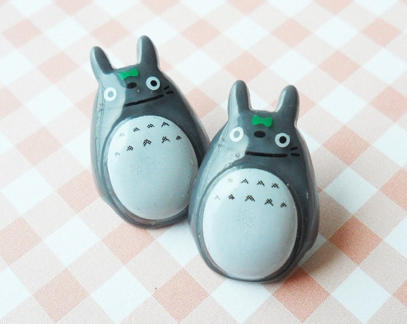 Cute Totoro earring - GRAY