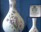 """Aynsley """"Wild Violets"""" Bud Vase"""