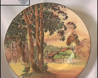 """1937 ROYAL DOULTON Collectible Plate """"Gum Tree B"""" D6309"""