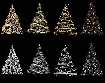 SALE - Cute Christmas tree Clip Art for scrapbooking, card making, Invites, photo cards (CA09)