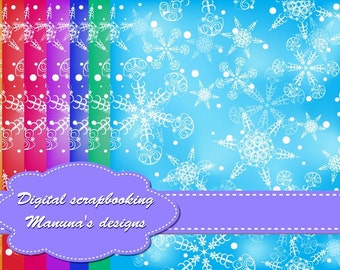 Cute Seamless Christmas Digital Papers for scrapbooking, card making, Invites, photo cards (P78)