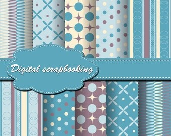 Cute Digital Papers for scrapbooking, card making, Invites, photo cards (P57)