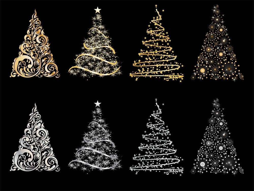 Sale cute christmas tree clip art for scrapbooking card