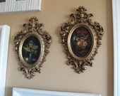 Vintage  framed oil paintings, Arabesque, Burwood