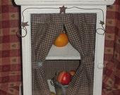 Primitive wooden Distressed cupboard/cabinet/curio