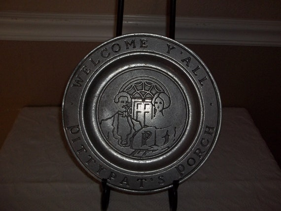 Reserved Vintage Welcome Ya'll Pitty Pats Porch Plate