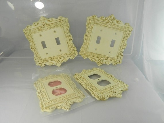 Shabby Chic Switch Plate Covers Electric Plug Outlet Covers