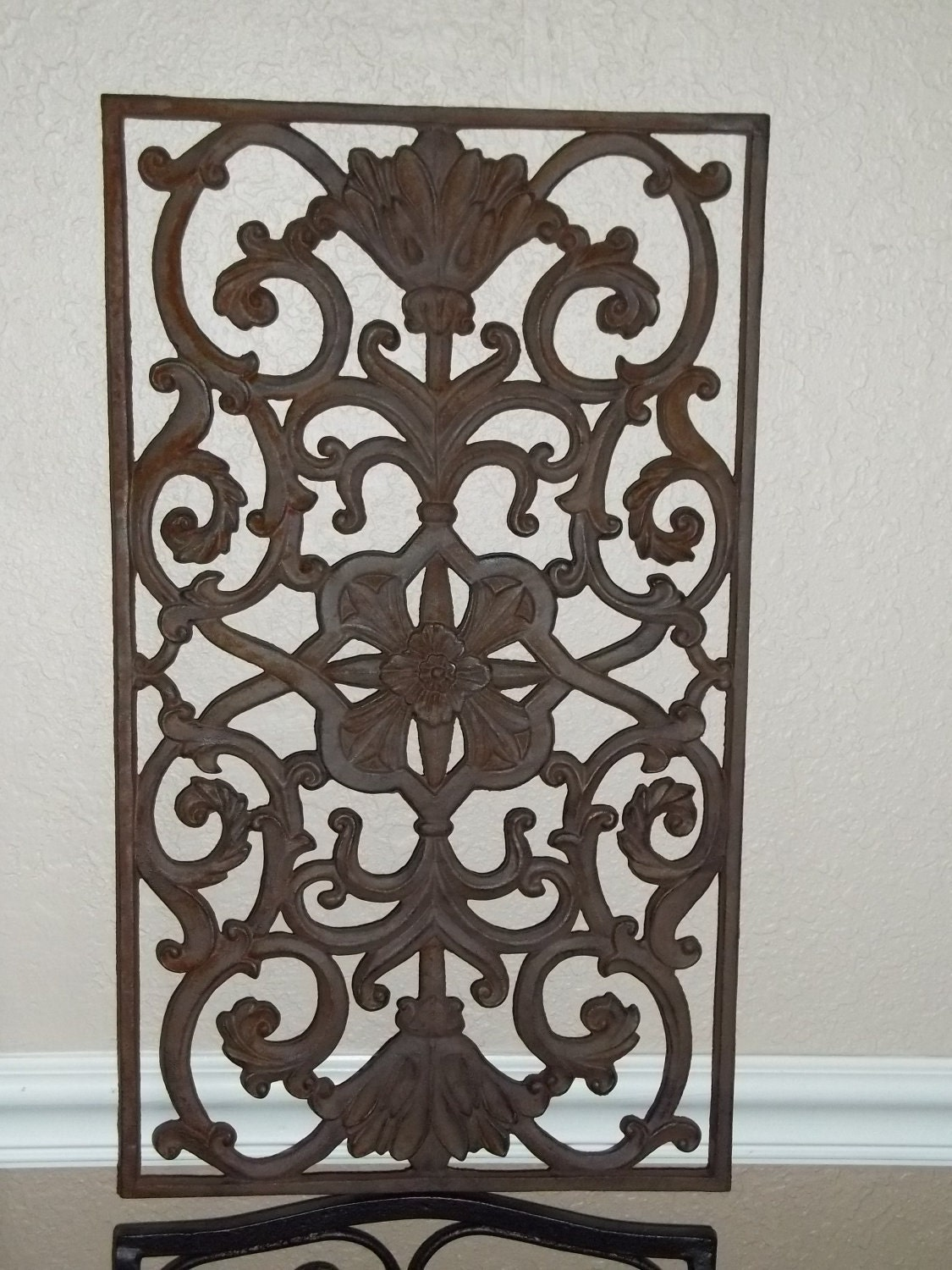 wrought iron rustic wall art. Black Bedroom Furniture Sets. Home Design Ideas