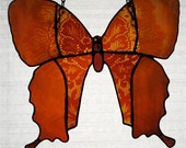 Stained Glass Victorian Splendor Blushing Peach Lacewing Butterfly