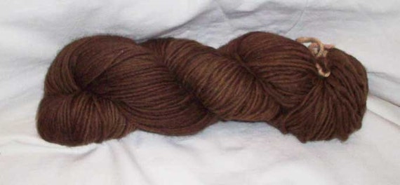 Earth Brown Worsted Weight Wool Yarn