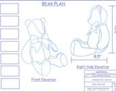 """Custom 18"""" Fabric Teddy Bear for Sharon"""
