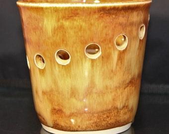 Ceramic Vase: Handmade in Rust Orange