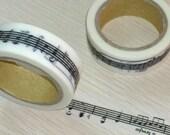 Japanese Washi Masking Tape - Stave - 11 yards