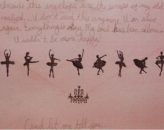 DIY  Rubber Stamp Tin Box Set -  Ballerina- 9 Pcs