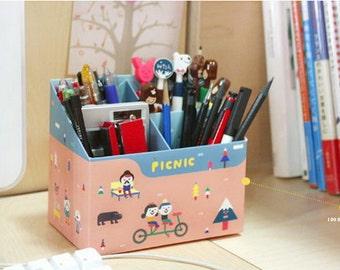 DIY Paper Clean-up Box - Pencil Box - Picnic