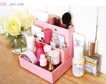 DIY Paper Clean-up Box - Mini Cafe Series - Pink, Green, Yellow and Purple by random