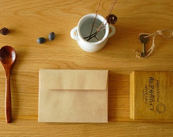 Envelope Set - Kraft Paper - 4.9in x 6.9in - Rectangle Seal - 10 Pcs
