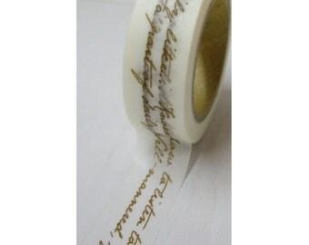Golden Love Letter - Japanese Washi Masking Tape - 11 Yards
