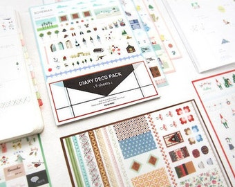 Translucent Sticker Set  - Diary Deco Pack - 9 Sheets