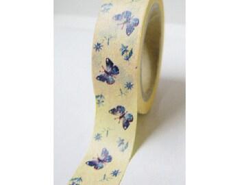 Japanese Washi Masking Tape - Butterfly with Milk - 6.5 Yards