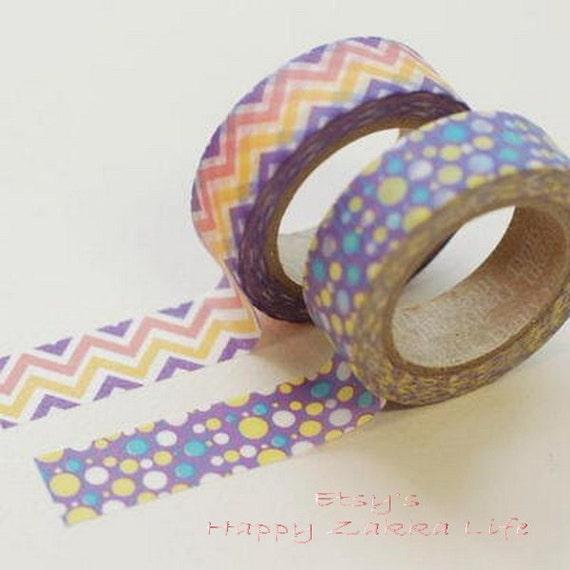 Japanese Washi Masking Tape Set - Mystic Series - 2 rolls - 11 Yards (each roll)